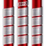 calendario 2012 con i nastri metallici illustrazione di stock