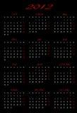 Calendario 2012 con il disegno Fotografie Stock Libere da Diritti