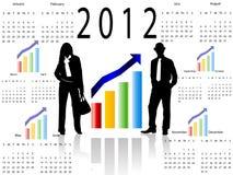 calendario 2012 del asunto Fotografía de archivo libre de regalías
