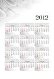 calendario 2012 del estilo del asunto Imágenes de archivo libres de regalías