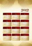 calendario 2012 del estilo del asunto Fotografía de archivo libre de regalías
