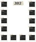 calendario 2012 della foto Fotografia Stock