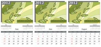 Calendario 2012. Verano Foto de archivo