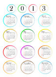 calendario 2013 Immagine Stock