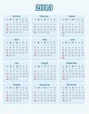 Calendario 2013 Fotografie Stock