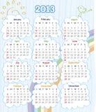 Calendario 2013 Immagini Stock