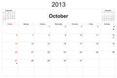 Calendario 2013 Foto de archivo