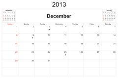 Calendario 2013 Imagen de archivo