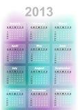 calendario 2013 Fotografía de archivo