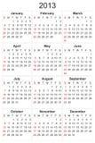 Calendario 2013 Imágenes de archivo libres de regalías
