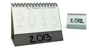 Calendario 2013 in 3d Fotografia Stock Libera da Diritti