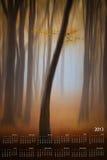 Calendario 2013 en la sola paginación fotos de archivo