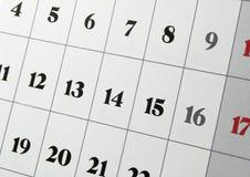 Calendario Immagini Stock Libere da Diritti