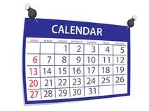 Calendario Fotografía de archivo libre de regalías