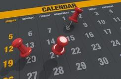 Calendario illustrazione vettoriale