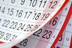 Calendario Foto de archivo