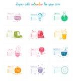 Calendario 2014 Immagini Stock Libere da Diritti