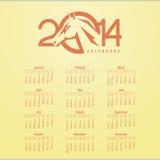 Calendario 2014 stock de ilustración