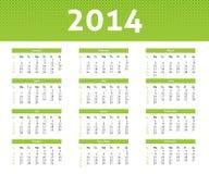 calendario 2014 Illustrazione Vettoriale