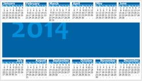 Calendario 2014 Immagini Stock
