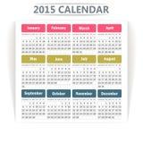 Calendario 2015. Foto de archivo