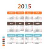 Calendario 2015. Fotos de archivo