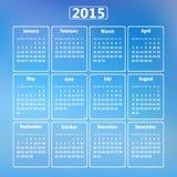 Calendario 2015. Foto de archivo libre de regalías