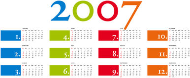 Calendario 3b Royalty Free Stock Image