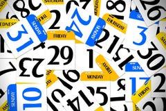 calendario 3D Immagine Stock