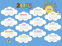 Calendario 2015 Immagini Stock Libere da Diritti