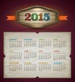 Calendario 2015 Fotografía de archivo libre de regalías