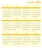 Calendario 2015 Fotografía de archivo