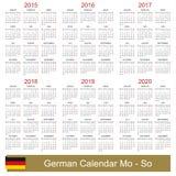 Calendario 2015-2020 Royalty Illustrazione gratis