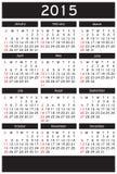 Calendario 2015 Fotos de archivo