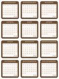 Calendario 2015 Fotografia Stock Libera da Diritti