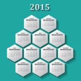 Calendario 2015 Fotografia Stock