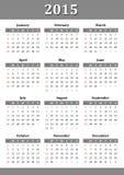 Calendario 2015 Fotografie Stock Libere da Diritti