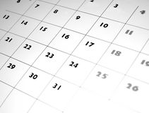 Calendario fotografie stock