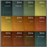 Calendario 2016 Foto de archivo