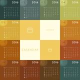 Calendario 2016 Imagenes de archivo