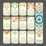Calendario 2016 Immagine Stock