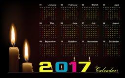 Calendario 2017 illustrazione vettoriale
