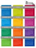 Calendario 2017 Immagine Stock Libera da Diritti