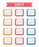 calendario 2017 Fotografia Stock