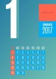 calendario 2017 Immagini Stock