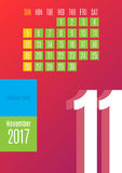 calendario 2017 Fotografie Stock Libere da Diritti