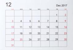 calendario fotografia stock