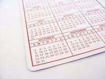 Calendario Fotografia Stock Libera da Diritti
