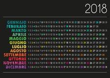 Calendario 2018 Illustrazione di Stock