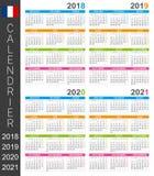 Calendario 2018-2021 Royalty Illustrazione gratis